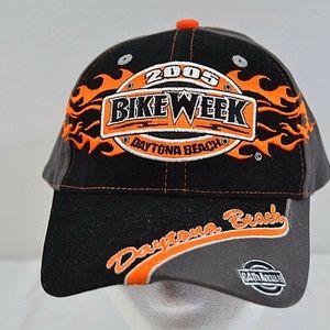 2005 Bike Week Daytona Beach Black/Orange Flames B